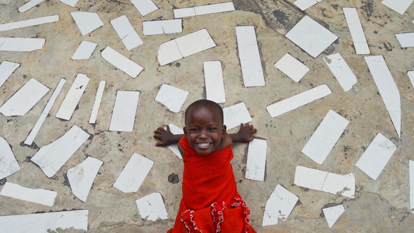 笑顔あふれるアフリカの子供